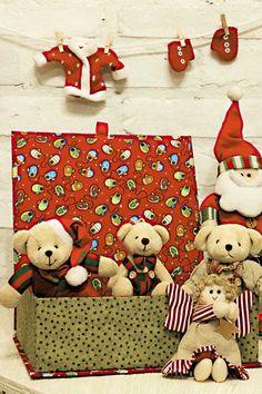 Caixa natalina de cartonagem
