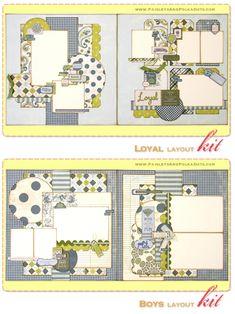 Digital Scrapbook layout 2 page