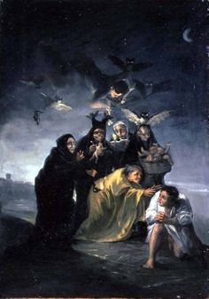 Francisco de Goya. The Spell ( also known as the Witches), by Francisco de Goya.