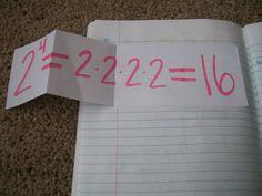 good examples of math journal exponents foldable, classroom, expon foldabl, math notebooks, interact math, educ, interactive notebooks, teach, algebra