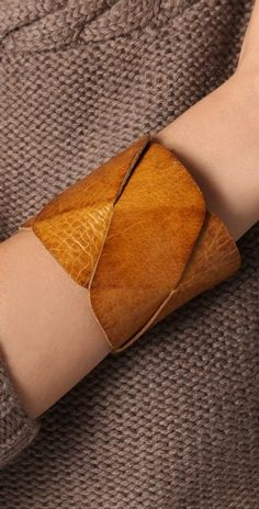 Butterscotch Leather Cuff
