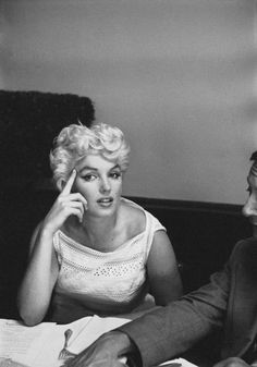 Marilyn Monroe photographed by Eve Arnold in Bement, Illinois, 1955. #celebrities