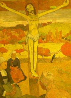 Images of Jesus...which do you connect with?  Paul Gaugin 1889 The Yellow Christ, Albright-Knox Art Gallery, Buffalo NY by hanneorla, via Flickr