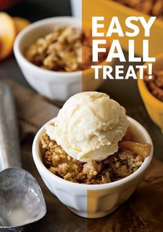 Fresh Peach Crisp Recipe | an easy baking recipe for fall parties and holidays! | fruit dessert recipe