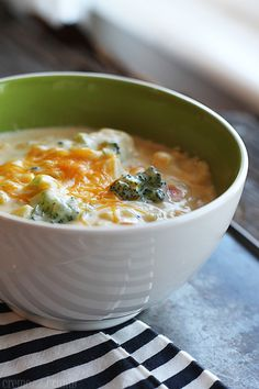 Cheesy Vegetable Soup