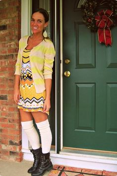 knee high socks with combat boots thigh highs