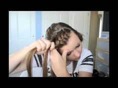 how to: french braid bangs.   Tried this today, need more practice as it was a bit challenging.  But the results are super cute..! Perfect for growing out your bangs...mine are all different lengths and it worked like a charm.    This will get used a lot!!