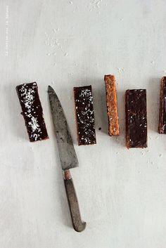 flapjacks chocolat noir et noix de coco | la cerise sur le gâteau
