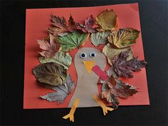 DIY Thanksgiving Crafts -- Fall Leaves Turkey #kids #leaf #thanksgiving #turkey #decor #decoration #preschool #prek #kindergarten #gobble #easy #simple #diy #home #family #activity #hike #leaves #outdoor
