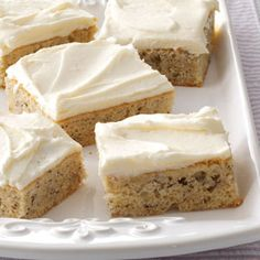 Banana Bars with Cream Cheese Frosting Recipe from Taste of Home