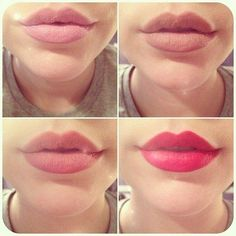 Different lip shades, mac lipstick ♥ soft pink, makeup lips, red lips, pink lips, mac lipsticks, lip colors, beauti, lip products, shade