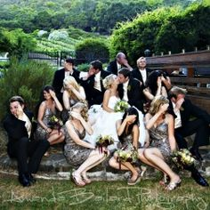 Cute Bridal Party Pose