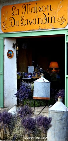 La Maison du Lavender - in the heart of lavender country.  Full of freshly cut lavender from their fields along w/ soaps, sachets, oils...