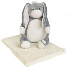 So you thought it was just a bunny - it's a pillow, back pack and cuddly buddy all in one, complete with luxury blanket - the perfect travel accessory for kids