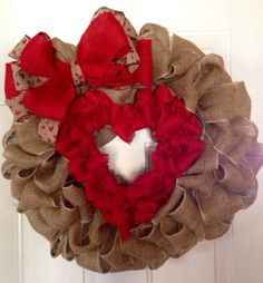 Valentines Day Heart Wreath