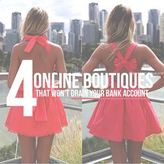 4 Online Boutiques that WON'T drain your back account!