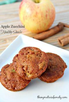 Apple Zucchini Healthy Snacks www.thenymelrosefamily.com #healthy_snacks #muffins