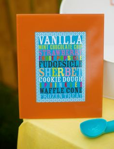 Ice Cream Social ideas w/Printables   Kim Byers, TheCelebrationShoppe.com #subwayart