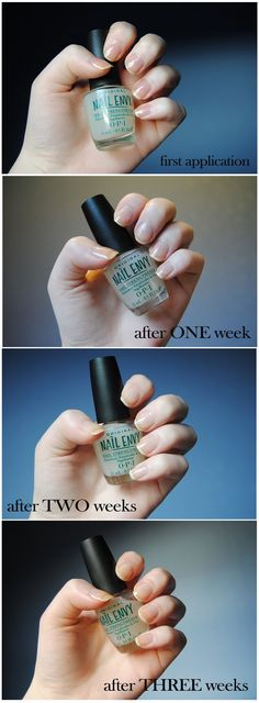 OPI Nail Envy : I have super weak and brittle nails that peel and this stuff works! I'm on week two and my nails are even stronger without the polish on.