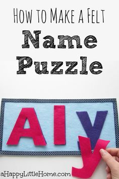 This DIY name puzzle