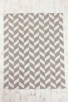herringbone rug...in navy, too!