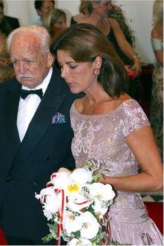 Prince Rainier and Princess Caroline of Monaco