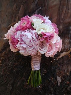 Peonies, Baroness Garden Roses, Ranunculus and Lisianthus, Twine and Ribbon Wrap