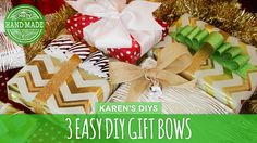 3 DIY Gift Bows for