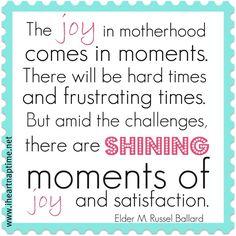 joy of motherhood quote