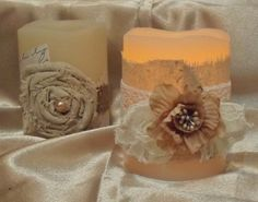 Shabby Chic Candles, Shabby Chic Craft