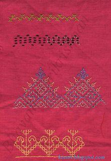 Kasuti embroidery sampler