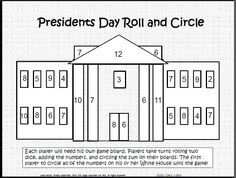 Roll, Add, & Cover FREE in the preview ... Presidents Day Math & Literacy Common Core Pack  $