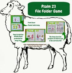 Psalm 23  David the Shepherd file folder game and/or put the scripture in order printables