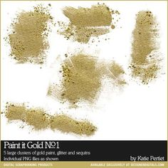 Paint it Gold No. 01 - Digital Scrapbooking Elements DesignerDigitals