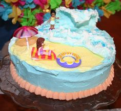 how to make a surfing ocean cake