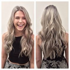 Grey Ash Blonde on Pinterest | Grey Blonde, Extensions Before After a ...