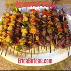 beef and chicken kabobs for the fourth of july bbq