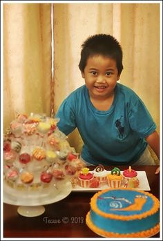 Happy birthday my son ^_^  Turbo Cake, Cake pop & cup cake
