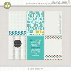 Dare to Dream Free Project Life Printable Journaling Card Set