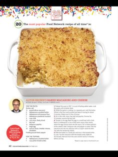 Alton Browns baked macaroni and cheese  This is the Food Networks top recipe-- delicious!    #recipes #pasta #dinner