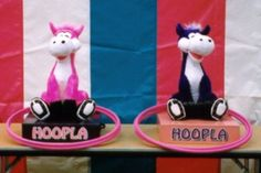Hoopla - Use stuffed animals, or pumpkins or balls as the center of game and as prizes