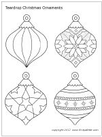 Christmas Tree Ornaments | Printable Templates & Coloring Pages | FirstPalette.com