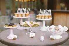 Sweets table | Photo by Brandon Kidd | Read more - http://www.100layercake.com/blog/?p=78718 #malibu #ranch #wedding