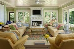 Cottage Company Lilypad cottage living room