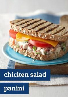 ... Panini recipe with melted Cheddar and fresh tomatoes on hearty