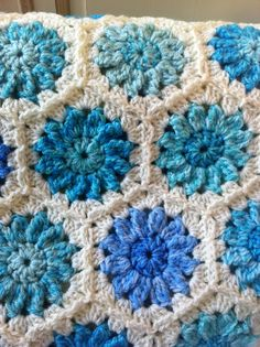 Two strands crocheted together! Super quick, thick and warm! By Kerry warren.  Pattern from sue pinners book called `granny squares`