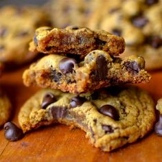 Learn the secret for the chewiest chocolate chip pumpkin cookies! They're outrageously delicious and not cakey at all!