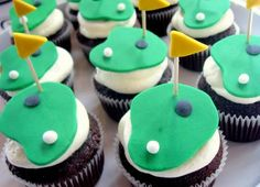 Golf theme wedding cupcakes