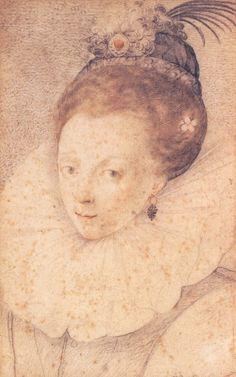 a beautiful colored sketch of Elizabeth I