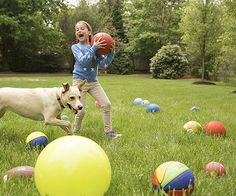 Get your kids active and outside with this giggle-inducing ball game. The goal: To get as many of the balls as possible on the other team's side of the yard before the round is over.